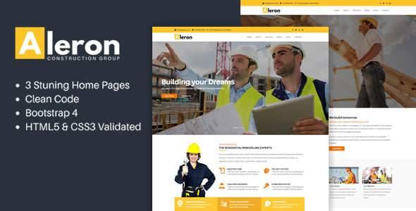 Aleron - Responsive Construction HTML Template            TFx Hank Nelson