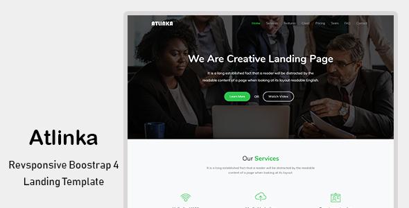 Atlinka – Responsive Bootstrap 4 Landing Template            TFx Norman Shiro