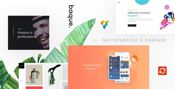 Baque - Multipurpose Onepage Creative WP Theme            TFx Byron Jarrod