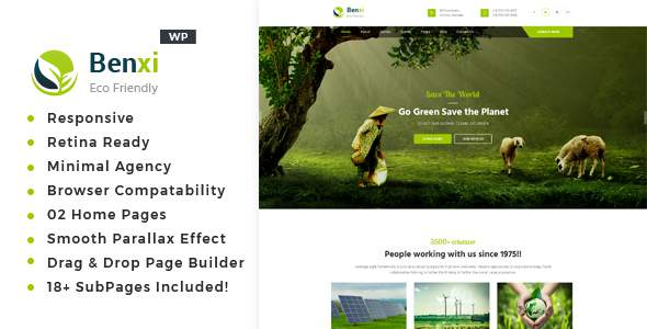 Benxi – Environment WordPress Theme            TFx Parris Irvin