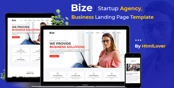 Bize – Startup Agency, Business Landing Page HTML Template            TFx Aqissiaq Daud