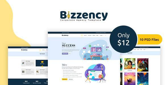 Bizzency – Corporate/Agency PSD Template            TFx Jeffry Hoyt