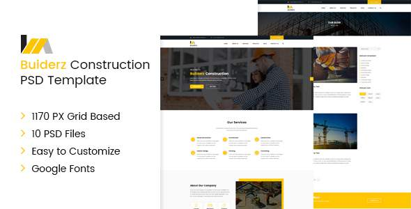 Builderz - Construction PSD Template            TFx Conway Rolland