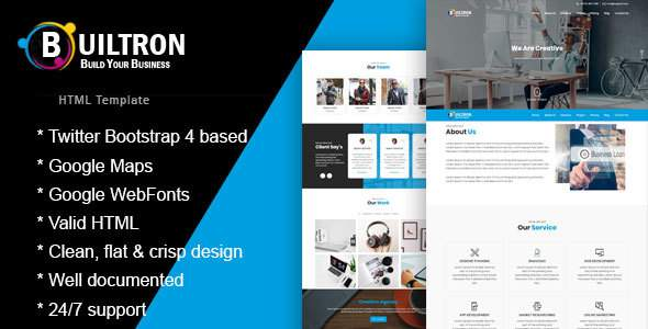 Builtron - One Page HTML Bootstrap4 Template            TFx Floyd Leigh