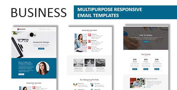 Business - Multipurpose Responsive Email Template with Online StampReady Builder Access            TFx Davis Jim