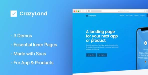 CrazyLand | App Landing Page            TFx Nevil Terrell
