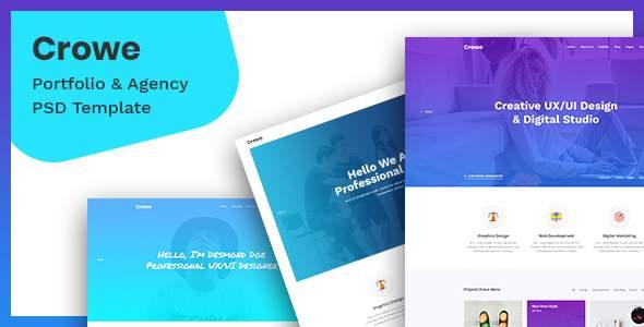 Crowe – Agency & Portfolio PSD Template            TFx Ferdie Jep