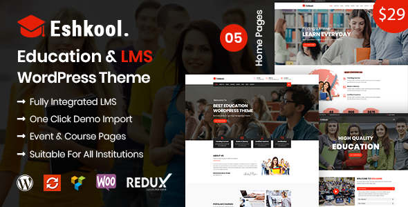 Eshkool – Education & LMS WordPress Theme            TFx Eduard Paxton