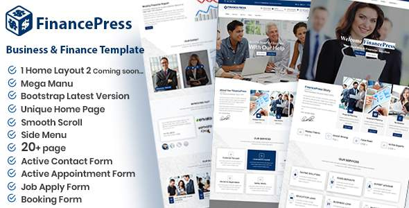 FinancePress - Business and Finance HTML Template            TFx Connie Colbert