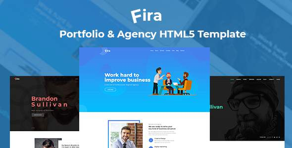 Fira - Personal Portfolio & Agency HTML5 Template            TFx Oswald Rayner