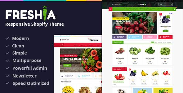 Freshia - Drag & Drop Sectioned Ecommerce Shopify Theme            TFx Gord Dian
