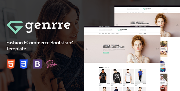 Genrre - Fashion ECommerce Bootstrap4 Template            TFx Keir Goddard
