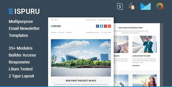 Ispuru – Multipurpose Email Newsletter Templates            TFx Lenox Liam