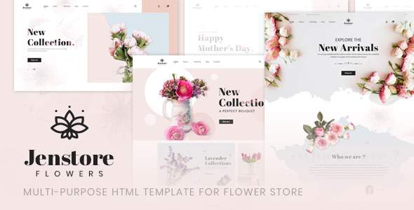 JenStore | Multi-Purpose HTML Template for Flower Store            TFx Elmo Reggie