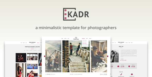 KadR - Minimalistic Template for Photographers            TFx Cambyses Brenden
