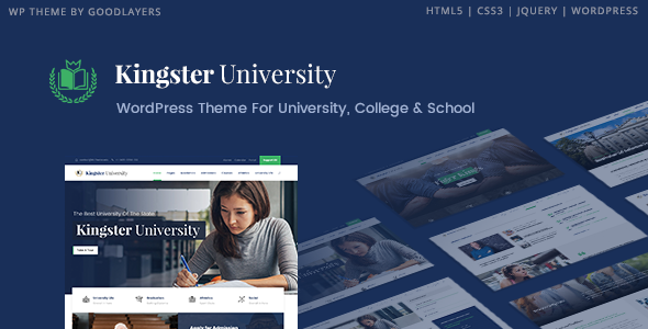 Kingster – Education WordPress Theme For University, College and School            TFx Masterman Cecil