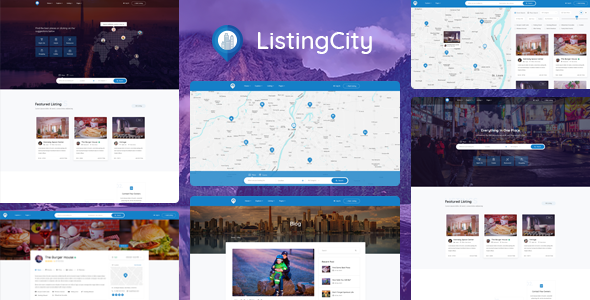 ListingCity - Directory Listing PSD Template            TFx Hal Ferdinand