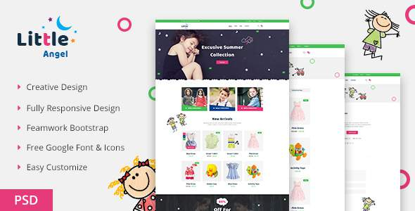 LittleAngel - Store eCommerce PSD Template            TFx Yasu Normand