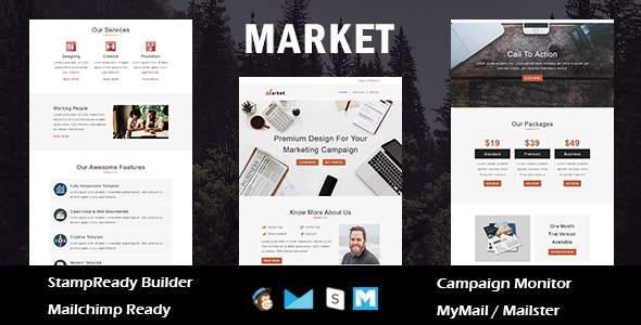 Market – Multipurpose Responsive Email Template With Online StampReady Builder Access            TFx Ujarak Alphonsus