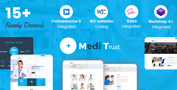 Meditrust - Medical HTML Template For Hospital, Clinic and Personal            TFx Cahyo Micah