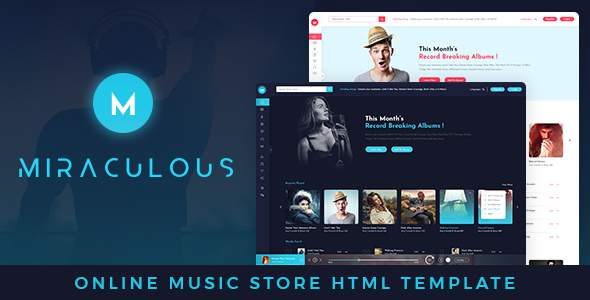 Miraculous Online Music Store HTML Template            TFx Nat Athelstan