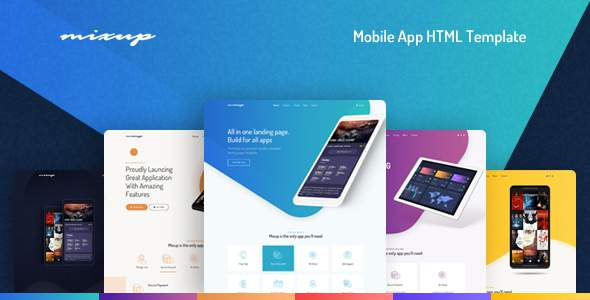 Mixup - App Landing Page HTML Template            TFx Isiah Bryan