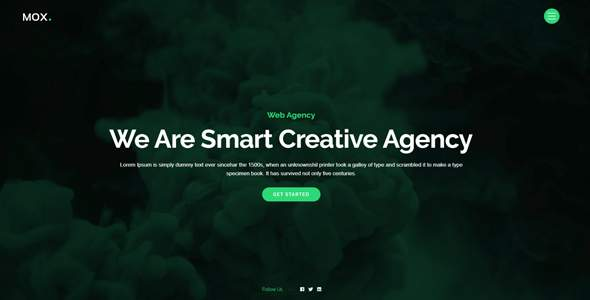 Mox – Creative One Page Parallax            TFx Cortney Tarquin