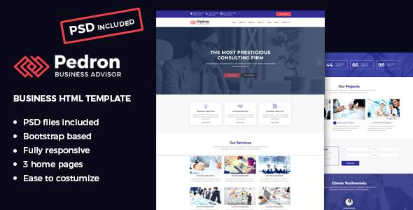Pedron – Business Consulting HTML Template            TFx Randolph Holden