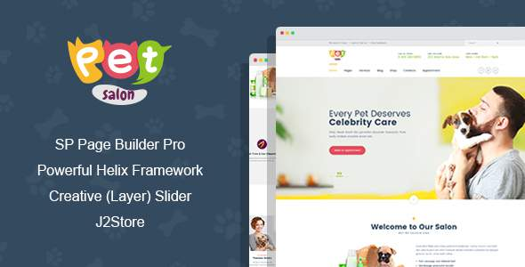 Pet Salon - Pet Grooming Joomla Theme With Page Builder            TFx Jared Edgar