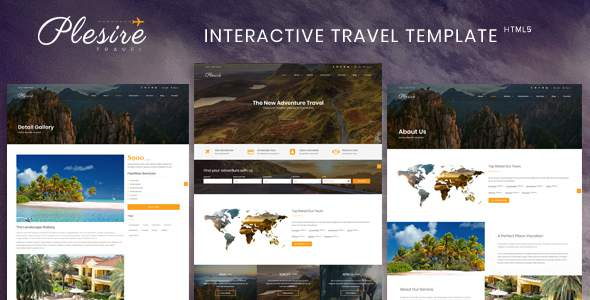 Plesire - Interactive Travel Template            TFx Henry Issy