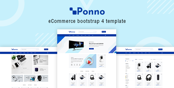Ponno – Electronics eCommerce Bootstrap 4 Template            TFx Cree Fenton