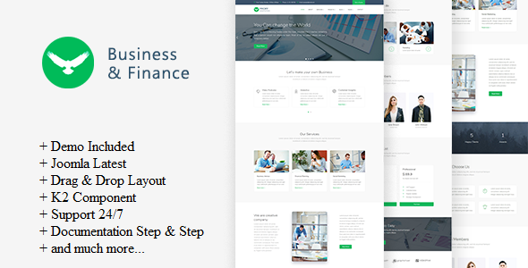 Proff – Business and Finance Joomla Template            TFx Garry Jason