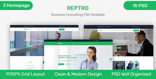 REPTRO – Business Consulting PSD Template            TFx Abe Val