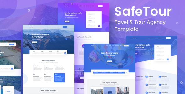 SafeTour - Travel & Tour Agency Booking Template            TFx Cohen Baldric