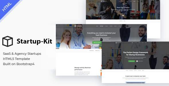Startup Kit – SaaS Startup and Agency Bootstrap4 Template            TFx Eli Ron