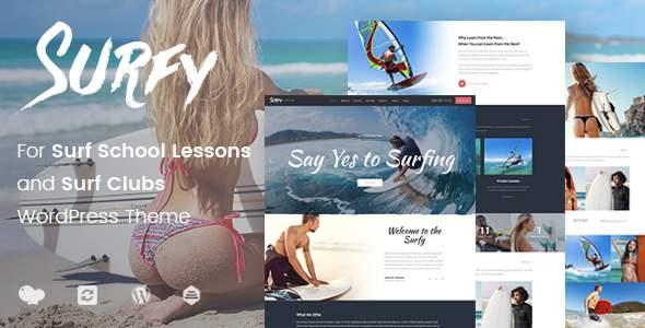 Surfy – WordPress Theme for Surf School Lessons and Clubs            TFx Katashi Stu
