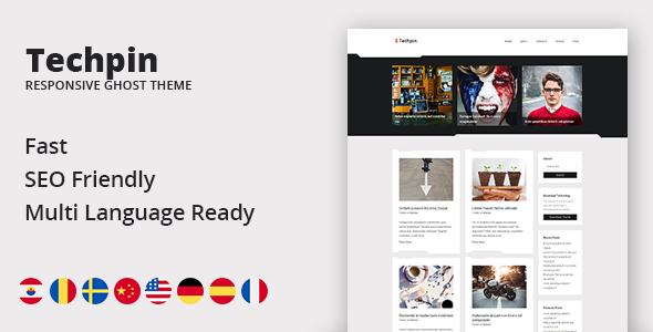 Techpin – Responsive Multipurpose Ghost Blog Theme            TFx Don Willard
