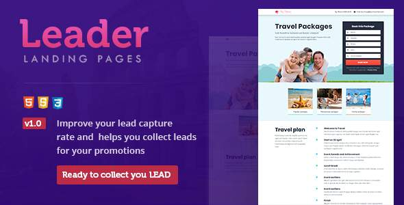 The Leader Landing Page Templates            TFx Silvester Lonnie