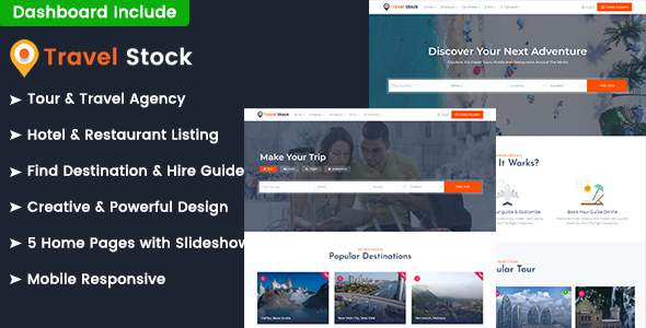 Travel Stock – Creative Tour & Travel Agency Template            TFx Thomas Sigmund