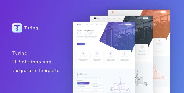 Turing – IT Solutions and Corporate Template            TFx Edvard Cory