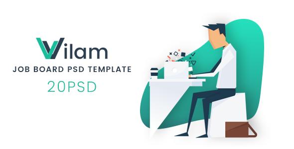 ViLam - Job Board PSD Template            TFx Hamlet Rafe