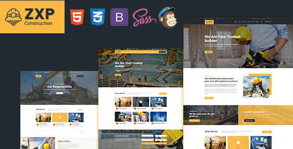 ZXP - Construction Business HTML Template            TFx Willie Gray