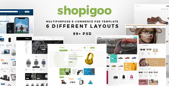 shopigoo - Multiuse eCommerce PSD Template            TFx Garegin Rain