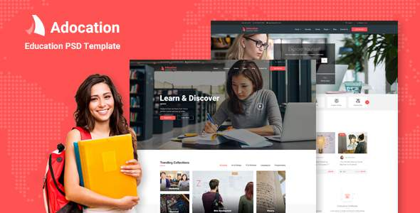 Adocation - Education PSD Template            TFx Perce Talako