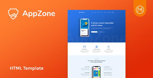 Appzone - App Landing HTML5 Template            TFx Hikaru Arlen