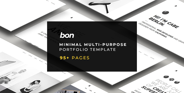 BON – Minimal Multi-Purpose Portfolio Template            TFx Perce Allen