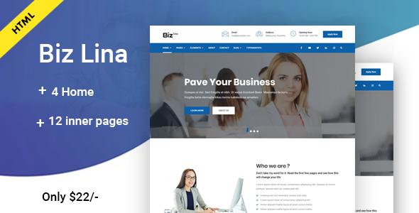 Biz Lina - Multi-Purpose Business Template            TFx Coty Jeffrey