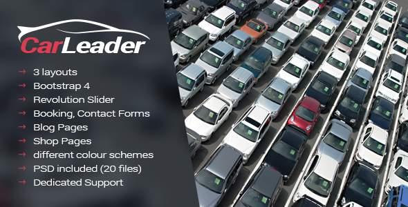 CarLeader - Car Dealer HTML website template            TFx Alec Mark