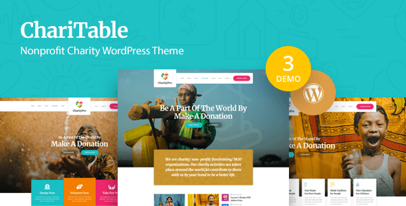 Charitable - Nonprofit Charity WordPress Theme            TFx Harlow Wendell