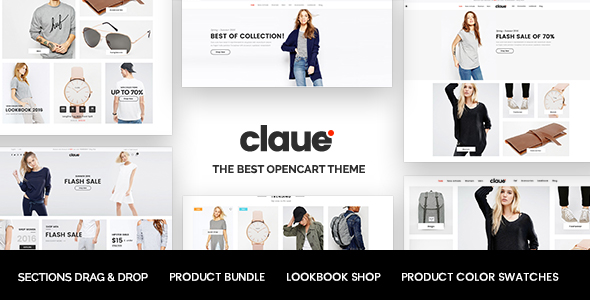 Claue - The Clean & Minimalist OpenCart Theme            TFx Kelley Kirk
